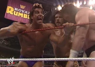 WWF ROYAL RUMBLE 1991 - Rick 'The Model' Martel gave an impressive performance in the Rumble match