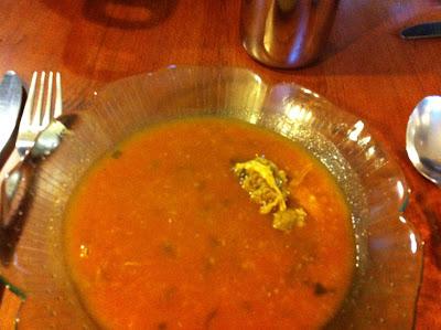 Soupe tomate coriandre