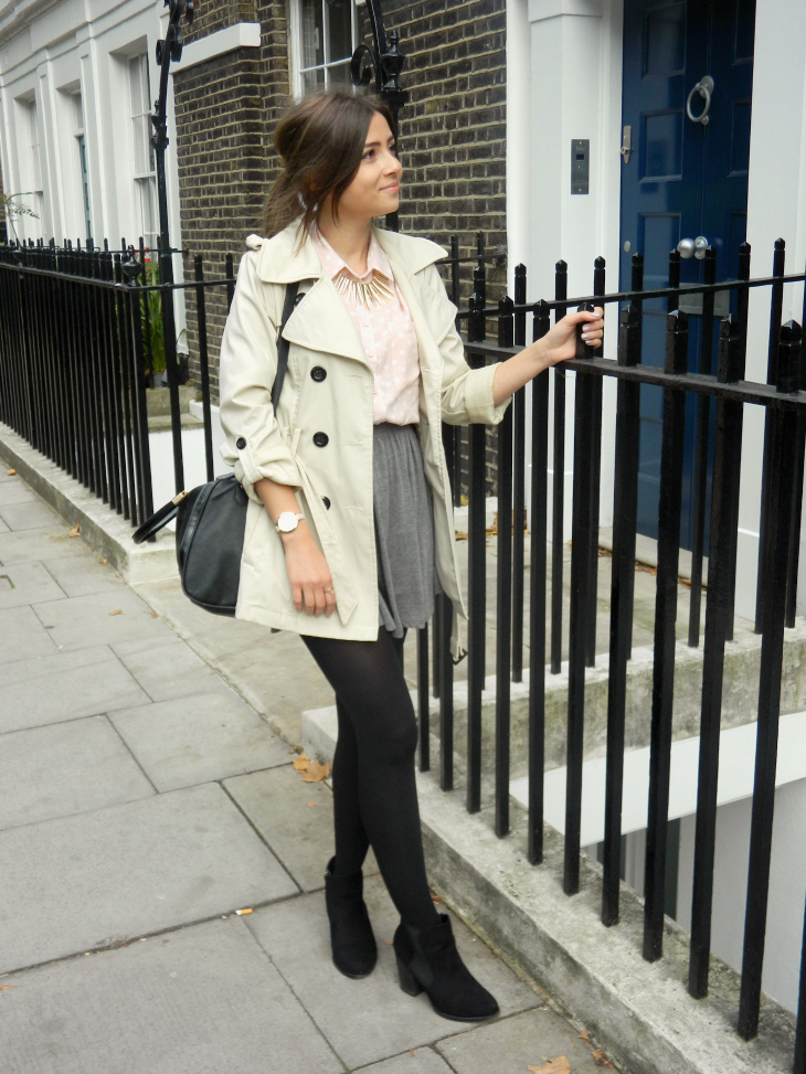 Love From Lisa Fashion: Heart Print Shirt & Trench Coat
