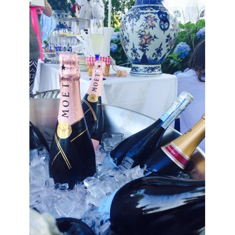 Moet Chandon rose and champagne