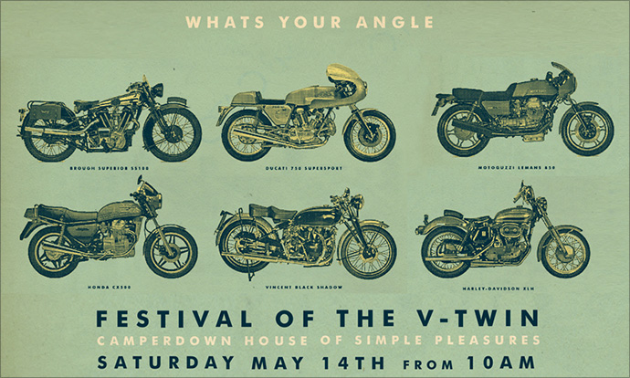 GasCap Motors Blog  V TWIN Festival entrants by Deus