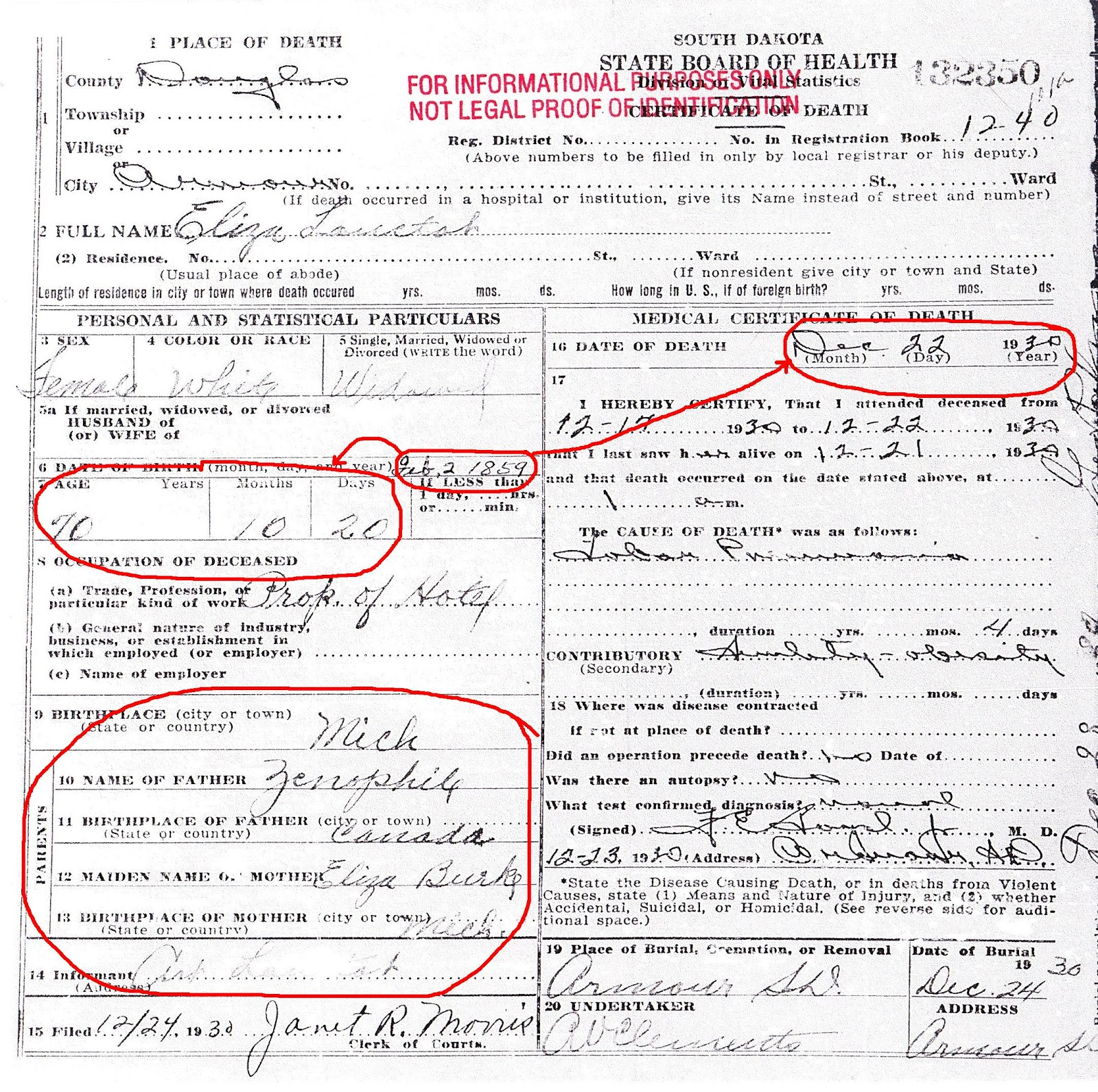 Anatomy of a Death Certificate (or … more confessions of an ...