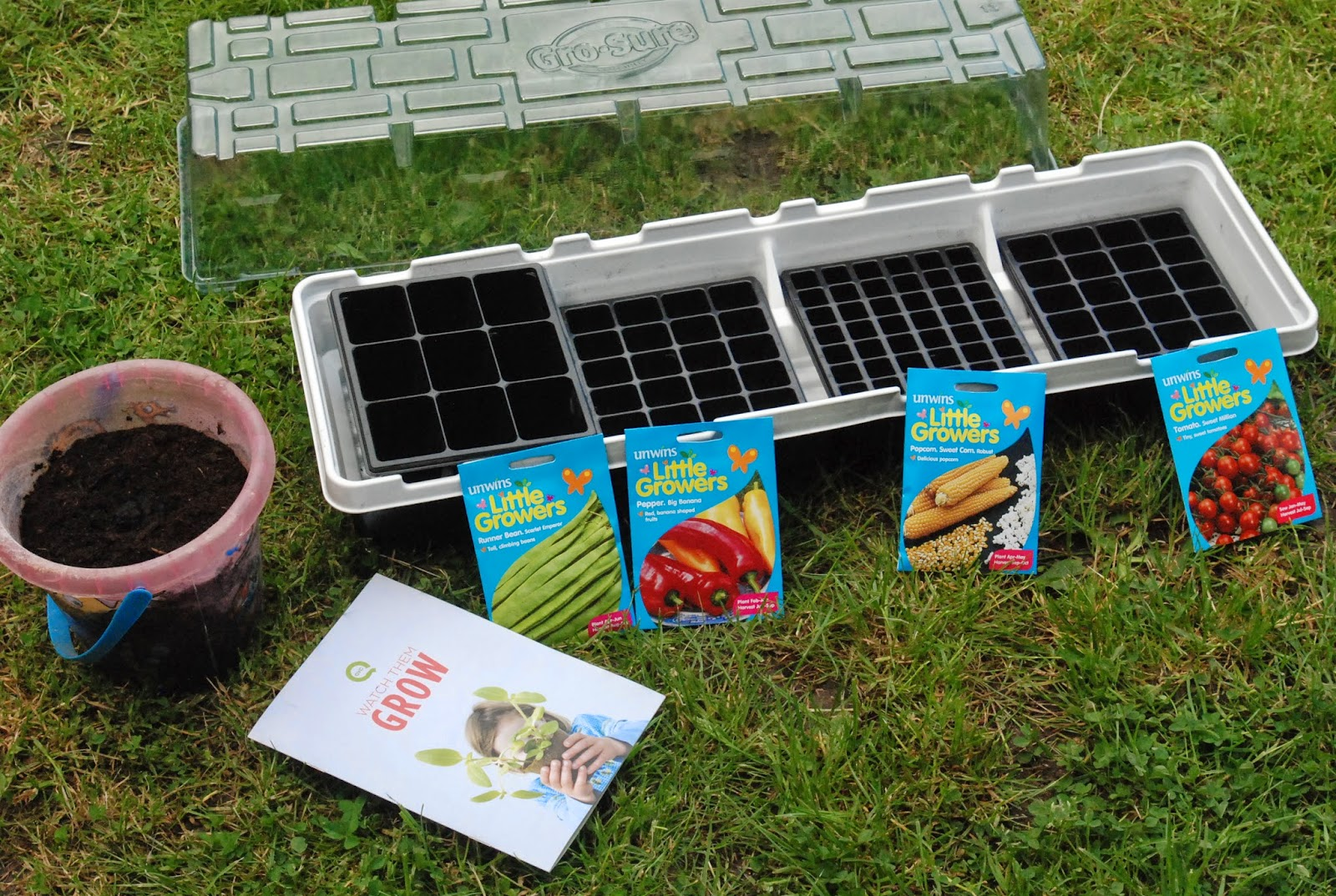 Watch them grow kids gardening kits from qvc for Gardening kit for toddlers
