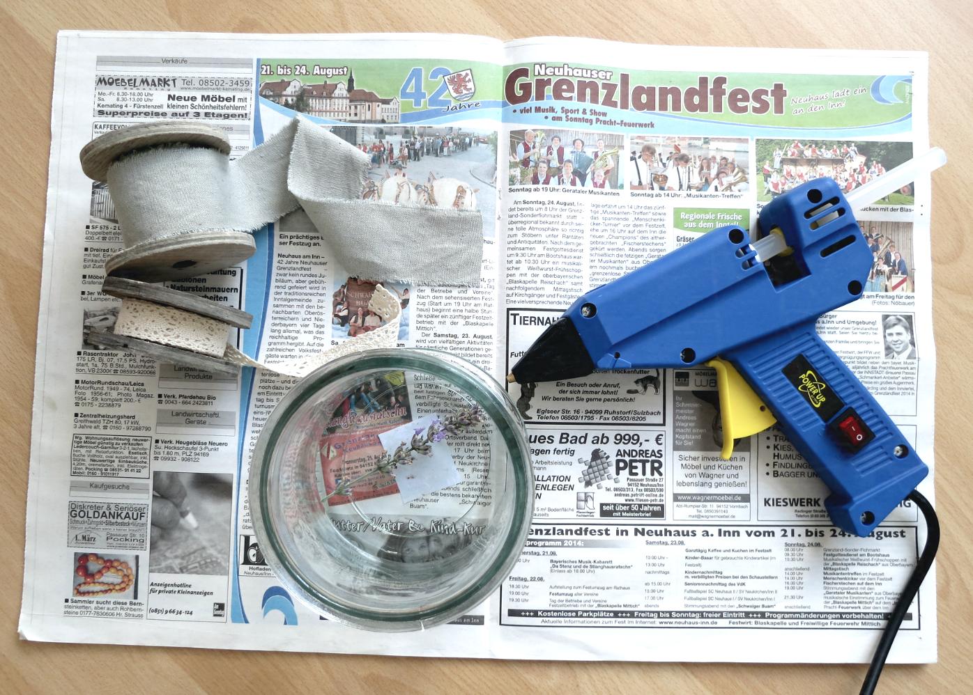 Herbst Deko Landhausstil : Bastelbedarf sowie Heißklebepistole