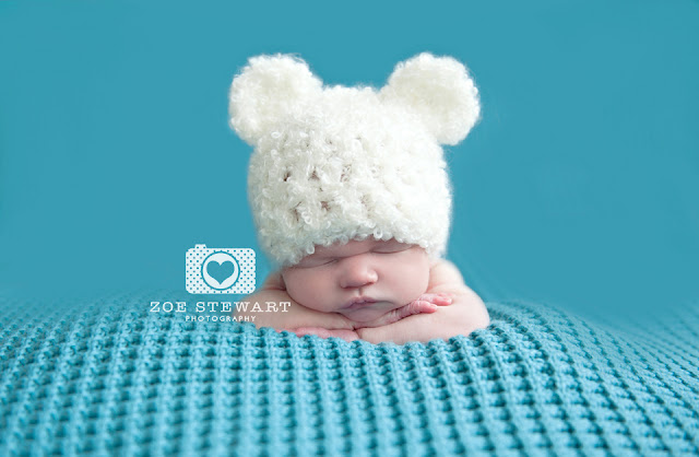 Newborn, prop, bear, hat, edinburgh, photographer, zoe, stewart, female, studio, portrait, natural, light, beautiful, zoestewart, photography