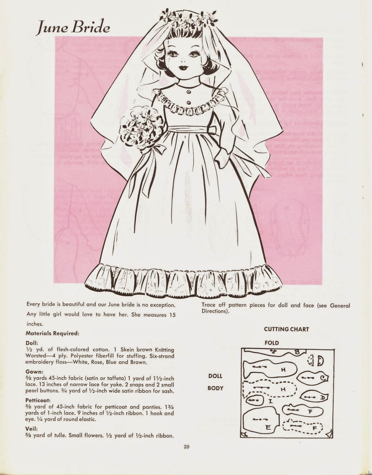Vintage Cloth Doll Pattern 38