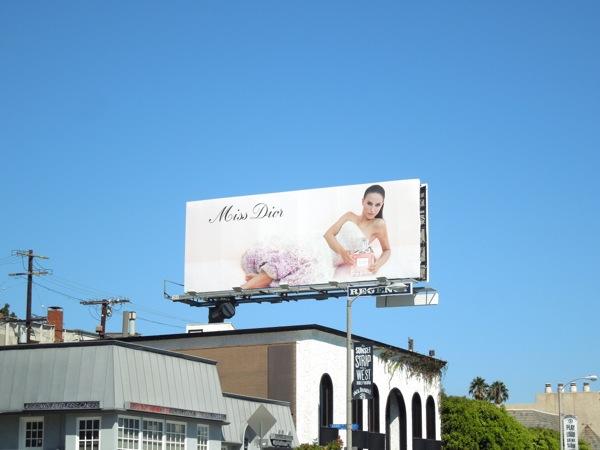 Natalie Portman Miss Dior billboard