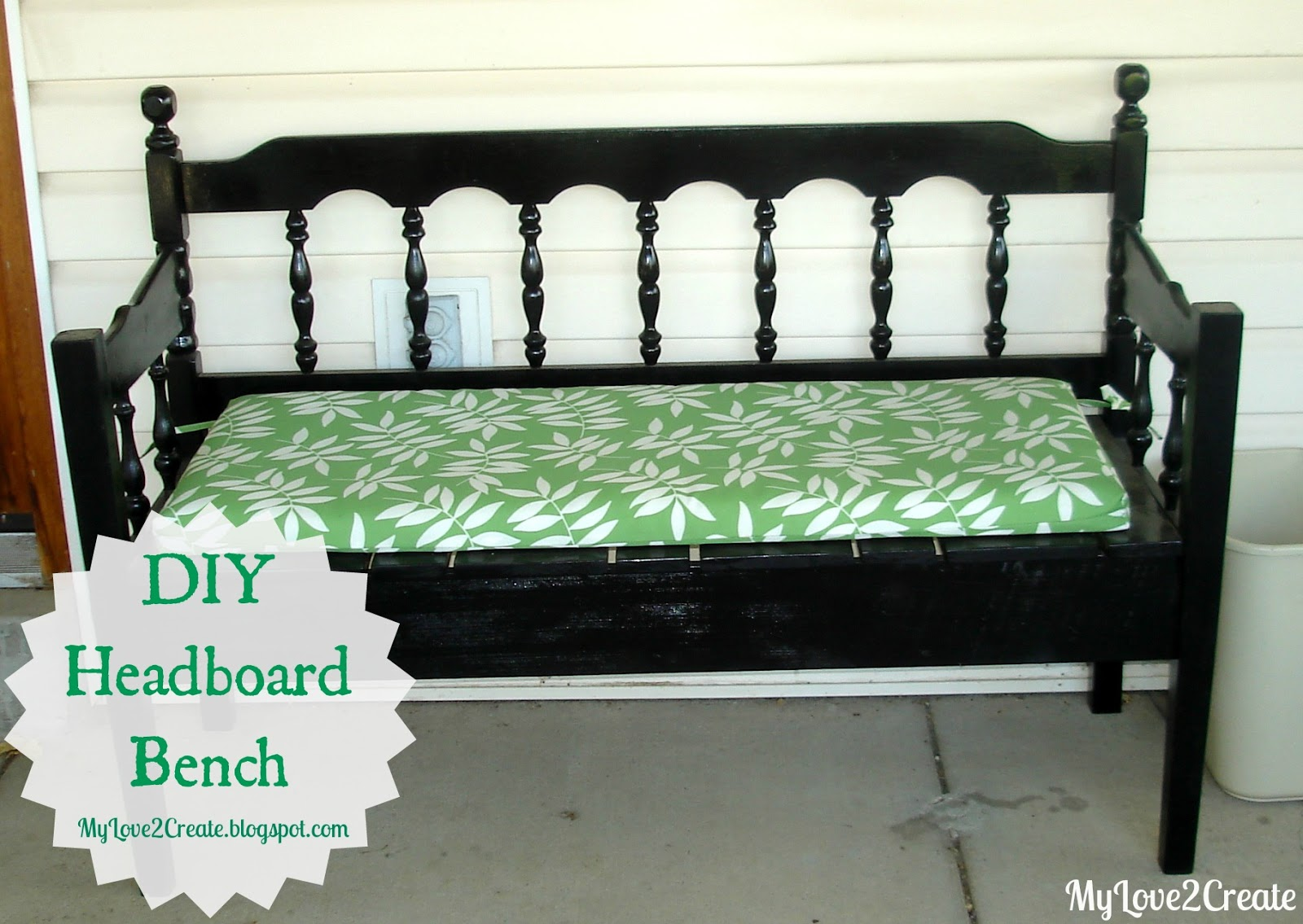 Headboard bench or loving referred to as the puzzle bench for How to make a headboard