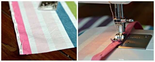 DIY tea towel from your favourite fabric