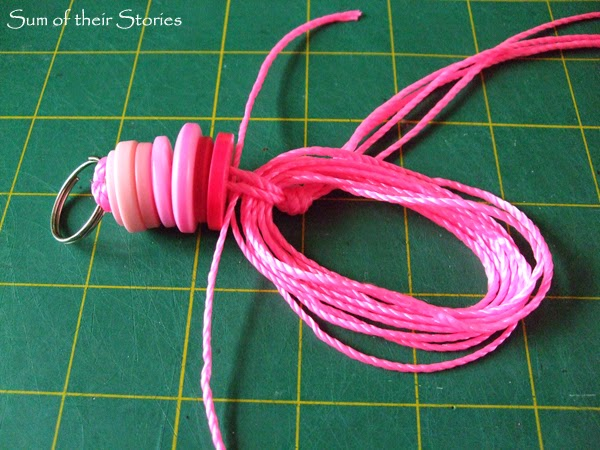 How to make a tassel button keyring