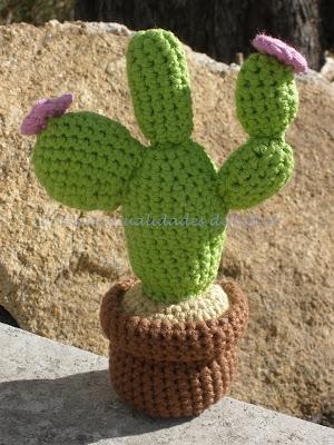 Cactus realizado a crochet
