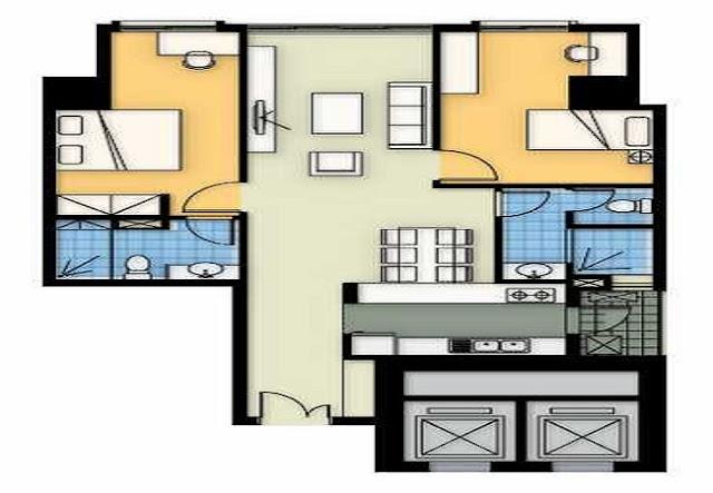 Mặt bằng căn hộ A5 chung cư Tincom City