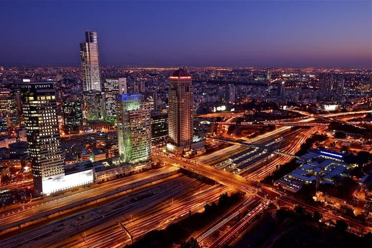 Tel Aviv from Triplex penthouse apartment by Pitsou Kedem