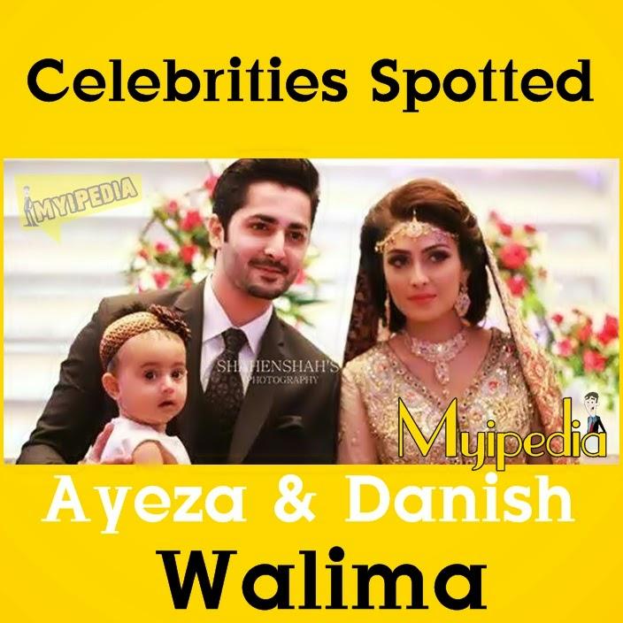 Celebrities Spotted at Ayeza & Danish Walima