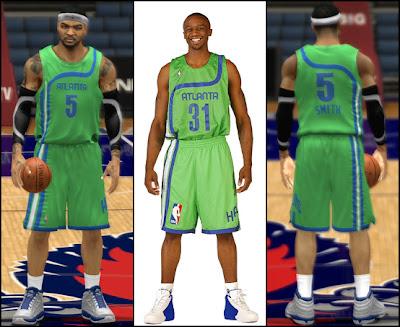 NBA 2K13 Atlanta Hawks Retro Throwback Green Jersey