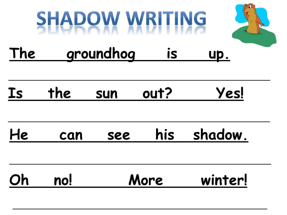 writing activities for kindergarten