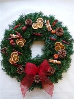 Coronas de Navidad, Frutos Secos.