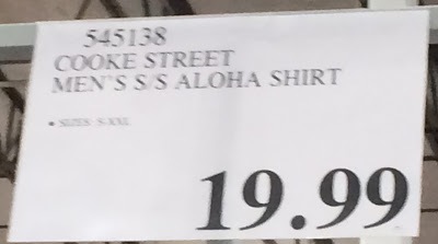 Deal for the Cook Street Men's S/S Aloha Hawaiian Shirt at Costco