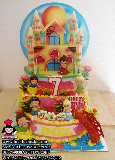 Kue Tart Princess Castel Buttercream Daerah Surabaya - Sidoarjo