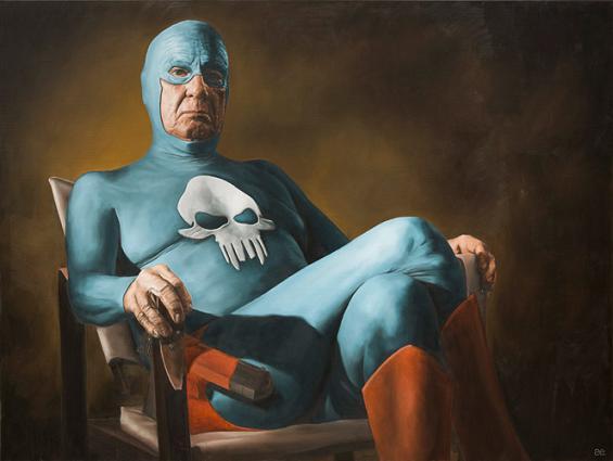 andreas englund pintura super herói atrapalhado imperfeito divertido