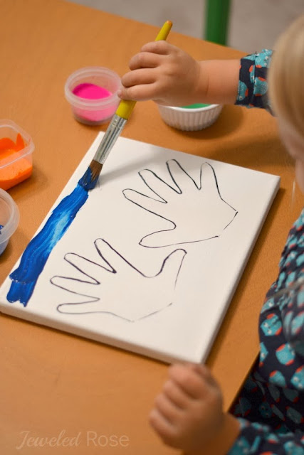 Hand Print Resist Art-a fun art activity for kids and a great keepsake for mom and dad