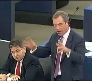 Nigel Farage at European Parliament,Greek Under EU Commission ECB IMF Dictatorship