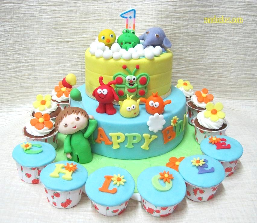 Mom And Daughter Cakes Baby TVs Characters Birthday Cake