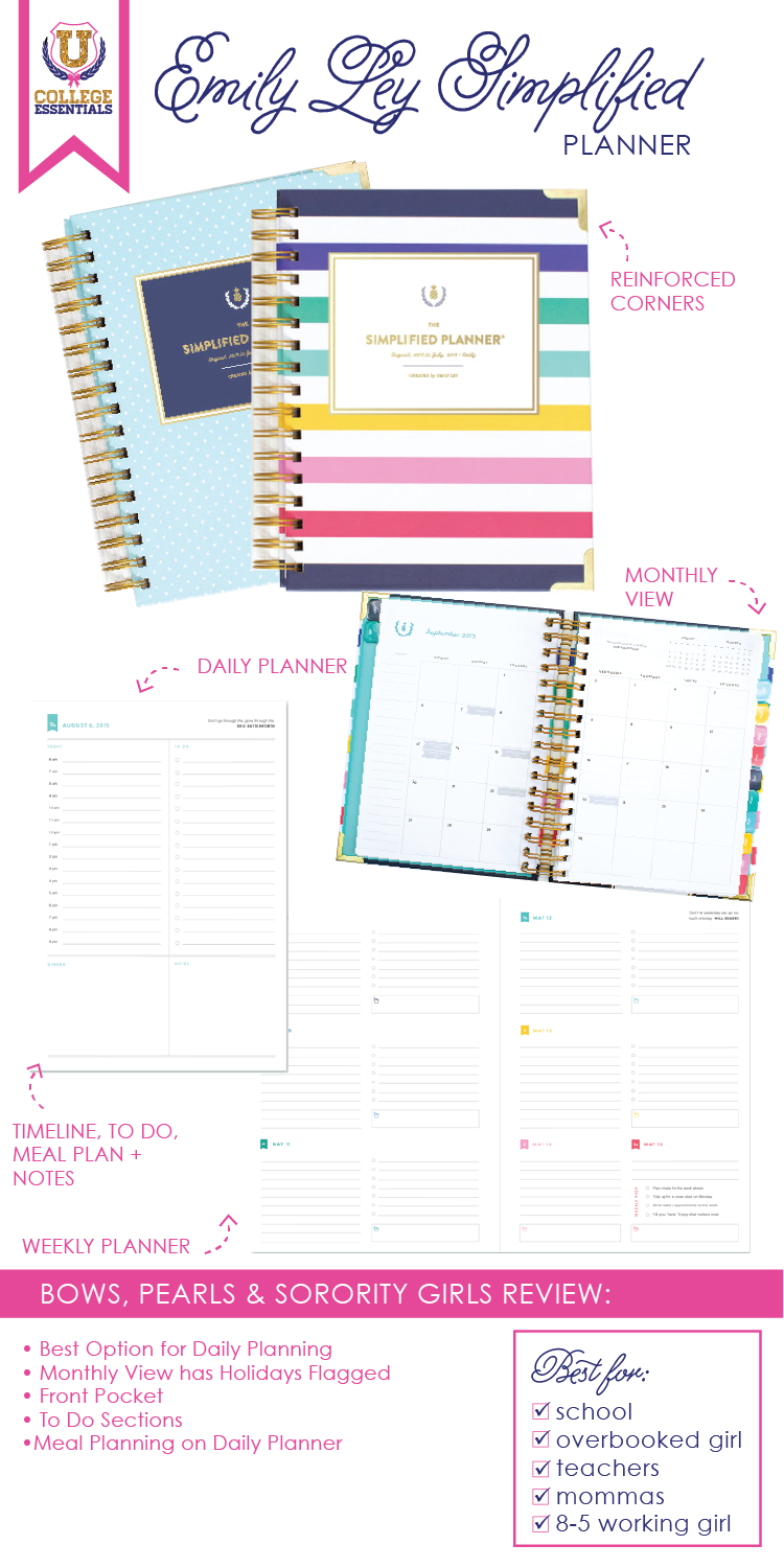 college daily planner