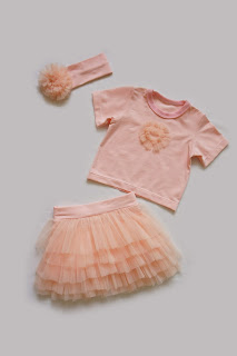 Детская футболка, детская юбка, повязка