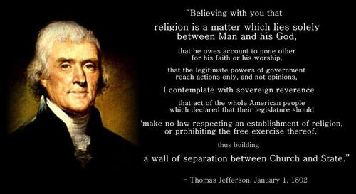 the attitude of thomas jefferson towards christianity Thomas jefferson was always reluctant to reveal his o one sees with greater pleasure than myself the progress of reason in it's advances towards rational christianity when we shall have done away the incomprehensible a view of jefferson's religious beliefs by david.