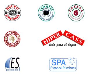 Firmas del Grupo Esmunas: Esmunas-Esmatel-Caessa-FilSport-Hipercass-EspoolPiscinas-SpaEspoolPiscinas-espoolpiscinas.com