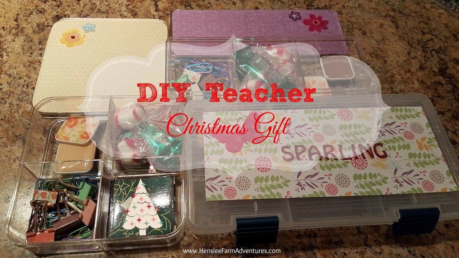 Diy Teacher Gift For Christmas Henslee Farm Adventures