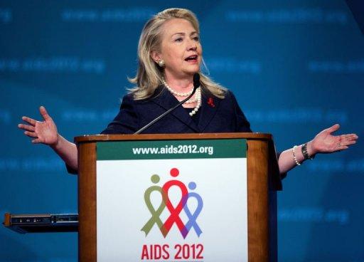 ClintonAIDS ... microbicides, adult male circumcision, female condoms, pre exposure ...