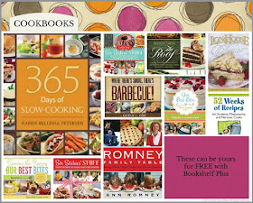 Cookbooks are on Bookshelf Plus