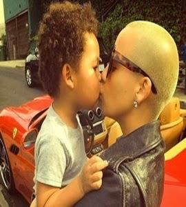 Amber Rose é considerada uma mãe ruim por Wiz Khalifa, pai de seu filho