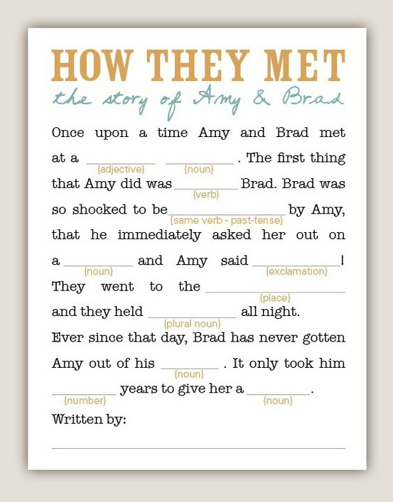Geeky image in funny wedding mad libs printable