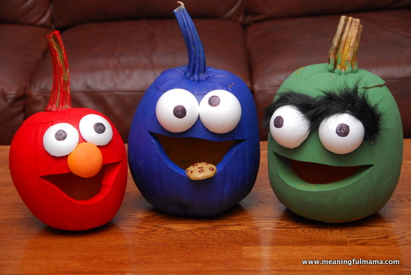 Sesame Street Pumpkins from Meaningful Mama