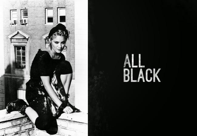 80's Madonna Fashion - wear black