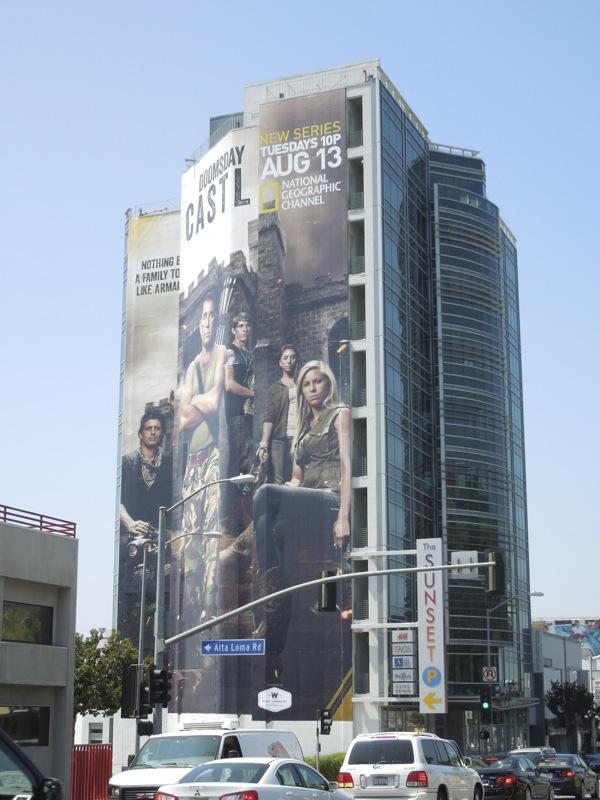 Giant Doomsday Castle billboard Sunset Strip
