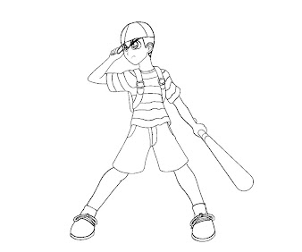 #10 Ness Coloring Page