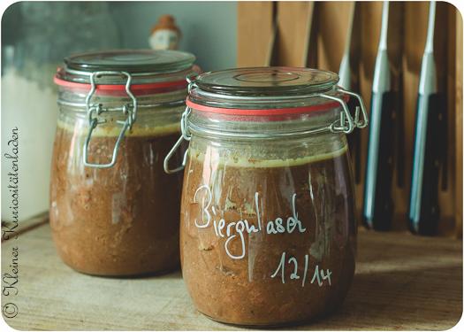 Biergulasch ~ Carbonade Flamande eingeweckt