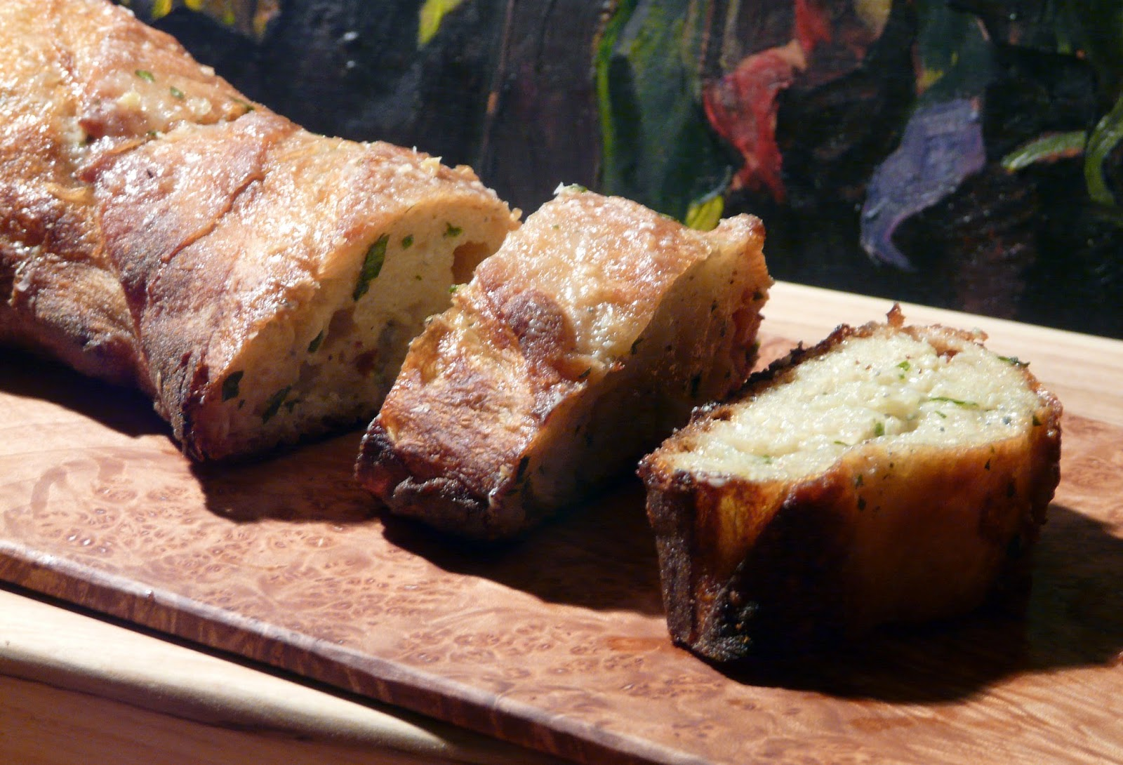 Thibeault's Table: Pasta Puttanesca with Gorgonzola Garlic Bread