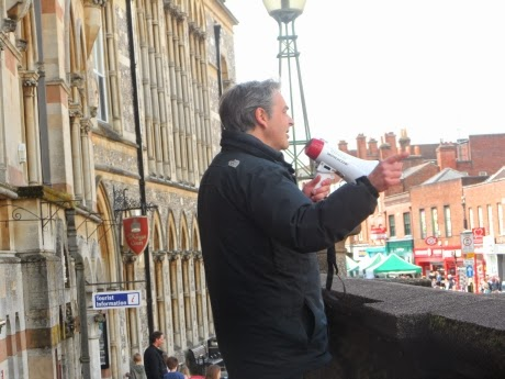 Paul Weston quoting Churchill in public in Winchester before the arrest