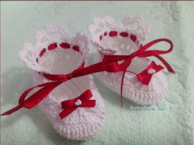 Zapatitos de Bebé a Crochet o Ganchillo
