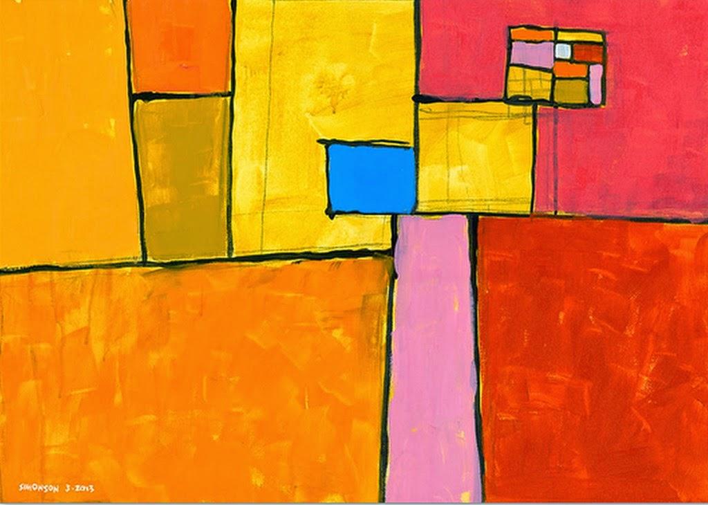 Pintura moderna y fotograf a art stica oleos modernos for Imagenes de cuadros abstractos faciles de hacer