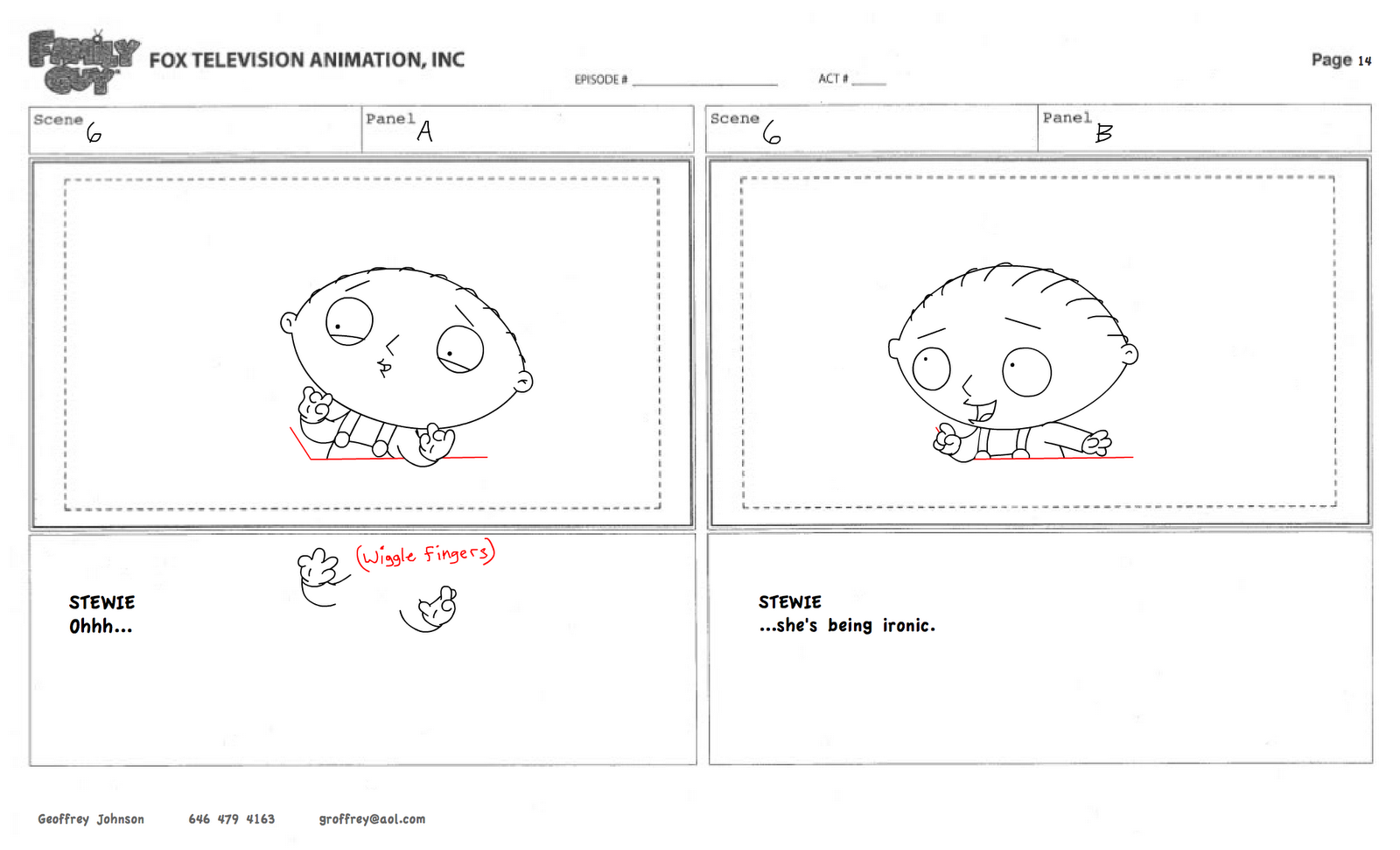 Storyboard Test Family Guy Geoffrey Johnson 01