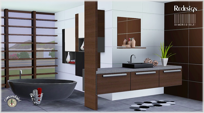 My sims 3 blog redesign bathroom set by simcredible designs for Bathroom ideas sims 3
