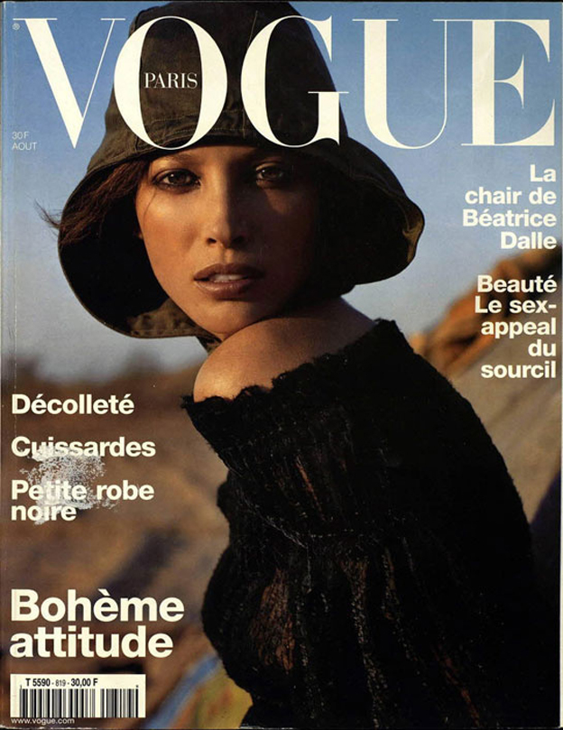 Christy Turlington in the first cover of Inez and Vinoodh