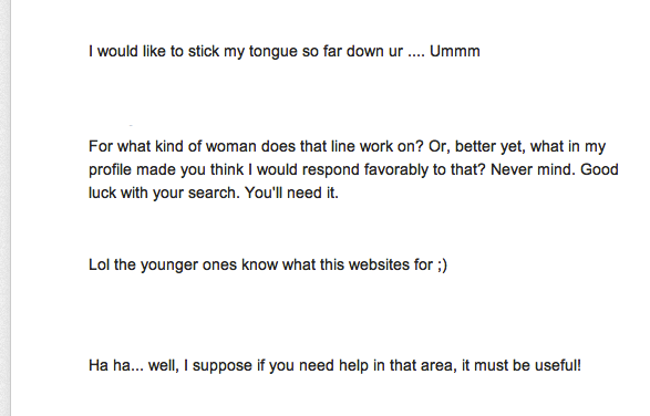 great online dating responses