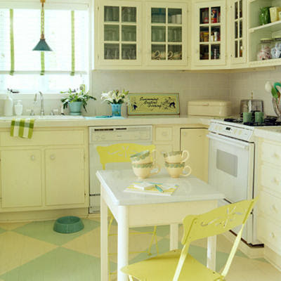 Vintage lodestone april 2011 for Green and yellow kitchen designs